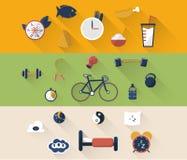 A ilustração do ícone do esporte no plano projetou com sombra Imagem de Stock