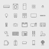 Ilustração do ícone dos aparelhos eletrodomésticos Imagem de Stock