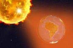 Ilustração do alargamento solar Imagens de Stock Royalty Free
