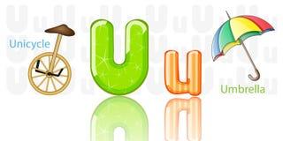 Ilustração do alfabeto de U ilustração stock