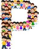 Ilustração do alfabeto P do formulário das crianças ilustração royalty free
