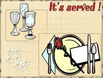 Ilustração do alimento Fotografia de Stock