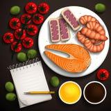 Ilustração do alimento Imagem de Stock Royalty Free