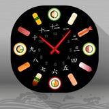 Ilustração do alimento, pratos japoneses ilustração do vetor