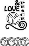 Ilustração do amor & da paz Fotografia de Stock Royalty Free
