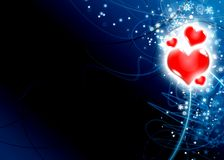 Ilustração do amor do cartão do dia do Valentim Ilustração do Vetor
