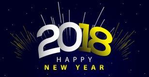 Ilustração 2018 do ano novo Fotos de Stock