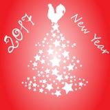 Ilustração do ano novo do galo Fotos de Stock Royalty Free