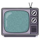 Ilustração do aparelho de televisão do vintage Imagens de Stock