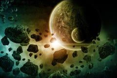 Ilustração do apocalipse de Eart do planeta Fotografia de Stock Royalty Free