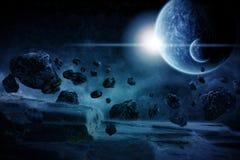 Ilustração do apocalipse de Eart do planeta Imagens de Stock Royalty Free