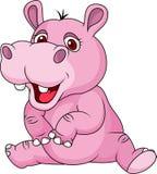 Desenhos animados engraçados do hipopótamo Foto de Stock Royalty Free
