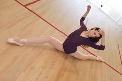 Ilustração do bailado dancer fotos de stock royalty free