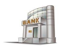 Ilustração do banco Fotografia de Stock