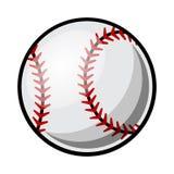 Ilustração do basebol do vetor isolada no fundo branco ilustração stock