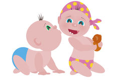 Ilustração do bebê do beijo Fotos de Stock