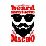 Ilustração do bigode Bigode da barba macho ilustração royalty free
