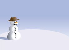 Ilustração do boneco de neve ilustração do vetor