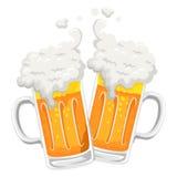 Ilustração do brinde da caneca de cerveja ilustração stock