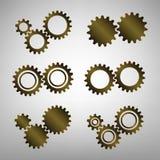 A ilustração do bronze diferente alinha ícones Imagens de Stock