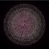 Ilustração do círculo de pontos claros Conceito abstrato do vetor Foto de Stock