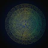 Ilustração do círculo de pontos da cor Conceito abstrato do vetor Fotos de Stock Royalty Free