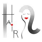 Ilustração do cabelo Fotografia de Stock