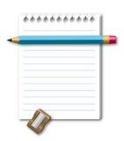 Ilustração do caderno Fotos de Stock Royalty Free