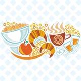 Ilustração do café da manhã Foto de Stock