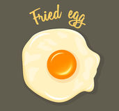 Ilustração do café da manhã de Fried Egg do vetor Foto de Stock Royalty Free
