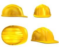 Ilustração do capacete 3d da construção Foto de Stock Royalty Free