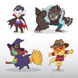Ilustração do caráter de Dia das Bruxas ilustração royalty free