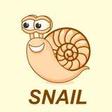 Ilustração do caracol logotipo, sinal, símbolo, ícone Imagens de Stock