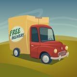 Ilustração do carro de entrega Fotografia de Stock Royalty Free