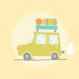 Ilustração do carro do curso Fotos de Stock Royalty Free