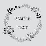 Ilustração do cartão da flor Foto de Stock Royalty Free
