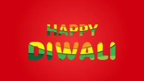 Ilustração do cartão de cumprimentos do festival de Diwali Fotografia de Stock Royalty Free