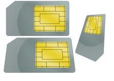 Ilustração do cartão de SIM foto de stock