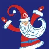 Ilustração do cartão do ano novo feliz Fotos de Stock