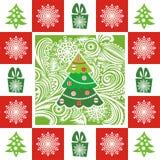 Ilustração do cartão do ano novo feliz Fotografia de Stock