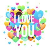 Ilustração do cartão do dia de Valentim Imagem de Stock