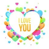 Ilustração do cartão do dia de Valentim Fotografia de Stock