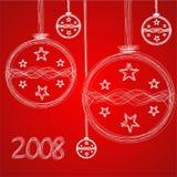 Ilustração do cartão do Natal Fotografia de Stock Royalty Free