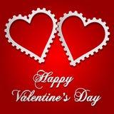 Ilustração do cartão do Valentim com corações do estilo da engrenagem Fotos de Stock