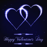 Ilustração do cartão do Valentim no estilo da constelação da estrela azul Imagens de Stock Royalty Free