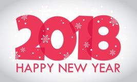 Ilustração do cartão dos feriados do ano novo feliz Fotografia de Stock Royalty Free