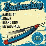 Ilustração do cartaz da barbearia Fotografia de Stock Royalty Free