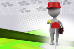 ilustração do carteiro do homem 3d Foto de Stock