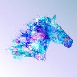 Ilustração do cavalo em tons azuis Imagem de Stock