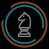 Ilustração do cavalo do jogo de xadrez do vetor ilustração royalty free